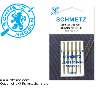 130/705 H-J VES - SCHMETZ jeans/denim needles 130/705H-J, 5pcs. 5x100