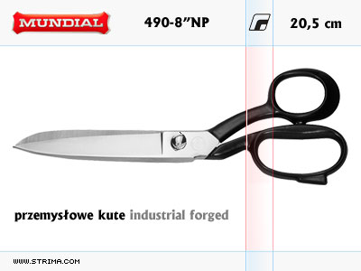 "490-8"" NP MUNDIAL - INDUSTRIAL FORGED dressmaker shears"