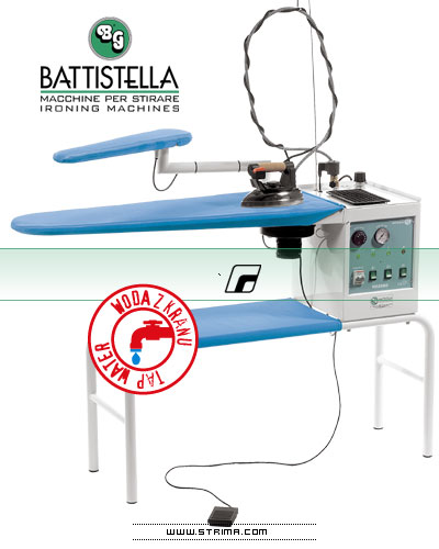 BATTISTELLA VULCANO MAXI - Iron table with steam generator and STEAM MASTER iron