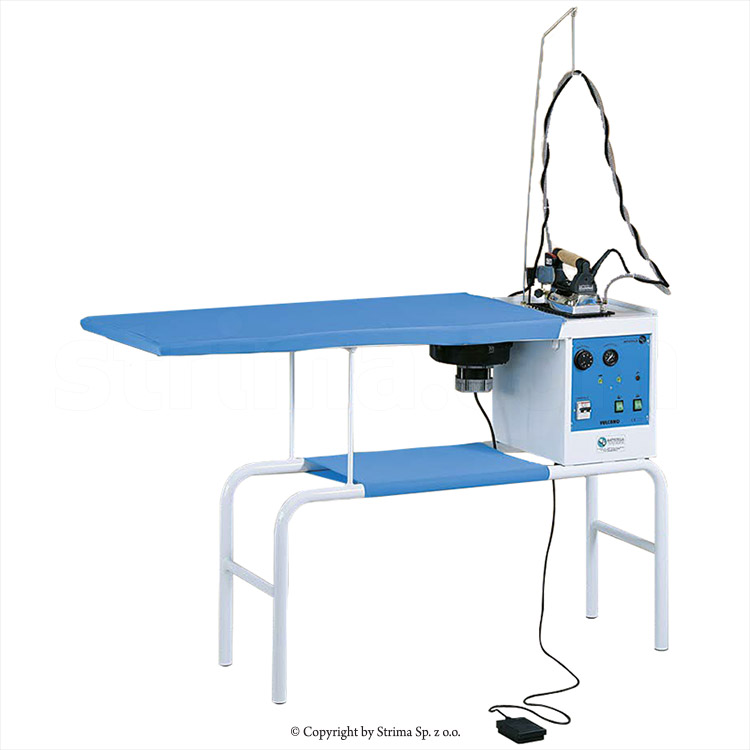 BATTISTELLA VULCANO RECTANGULAR - Ironing table with steam generator and STEAM MASTER iron