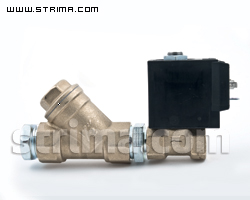 "21008 - Straight solenoid valve 1/4"" with filter for PLUTONE"