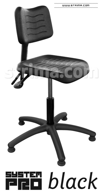 SYSTEM PRO BLACK Chair with feet