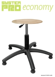 Industrial stool on feet - plywood - SYSTEM PRO ECONOMY Eco1