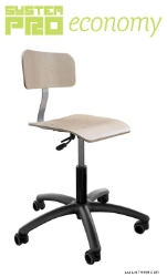 Industrial roatary chair on wheels - plywood - SYSTEM PRO ECONOMY Eco4