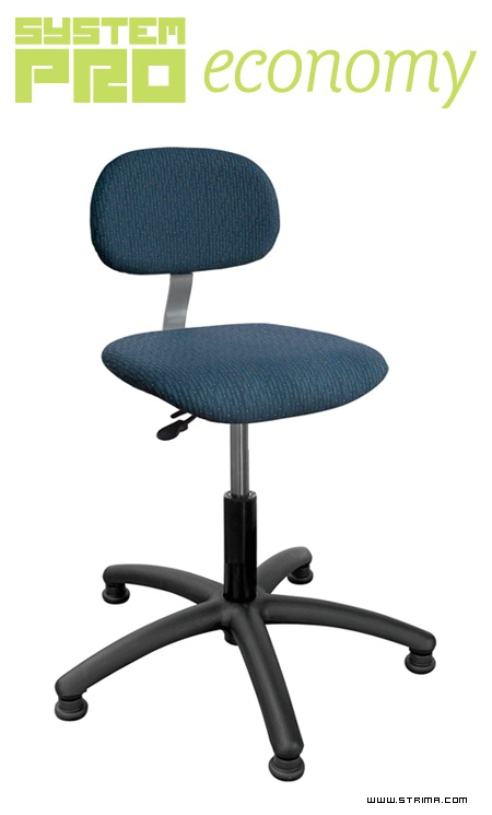 SYSTEM PRO ECONOMY Eco5 - Industrial rotary chair on feet - upholstered