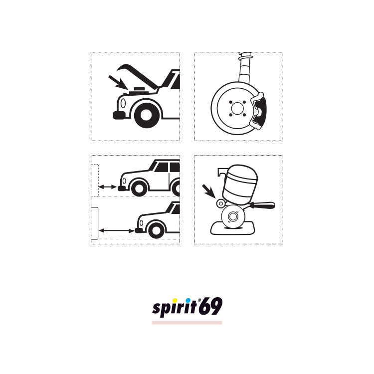Fast evaporating cleaner - SPIRIT 69 - spray 400 ml