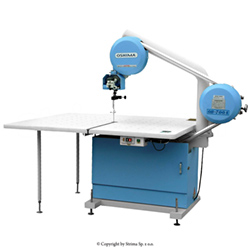 OSHIMA Band knife machine with air blowing and band knife security system, with stainless steel protecting gloves as a present - OB-700A/C OSHIMA
