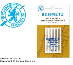 SCHMETZ embroidery needles 130/705H-E, 5pcs. 5x90