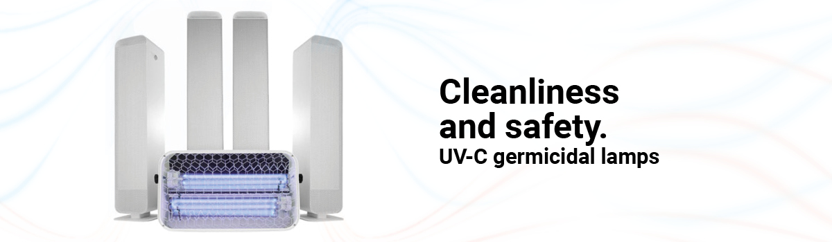 UV-C germicidal lamps